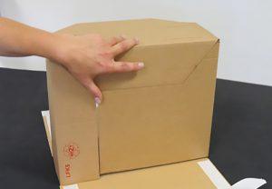 Luftfrachtkartons - Verpackungen, manipulationssicher - Boden einfach verschließen - Selbstklebeverschluss