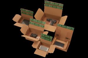 """Fixtray """"Premium"""" - Fixier- und Polstereinlagen - Kartonagen aus extrem stabiler Wellpappe"""