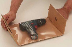 """Fixtray """"Premium"""" - Wellpappe, stabil - Fixier- und Polstereinlagen - Laschen falten"""
