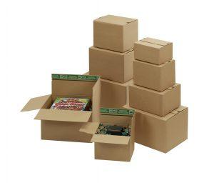 """Flixbox Vari """"Premium"""" - Kartons mit Selbstklebeverschluss und doppeltem Boden - Stabile Wellpappe"""