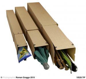 """longBox Teleskop """"Premium"""" - Verpackungen für sehr lange und gerollte Güter - Stabile Wellpappe, braun"""