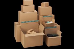 """System-Versand-Transportkarton """"Premium"""" - Stabile braune Wellpappe - ProgressBox-Boden"""