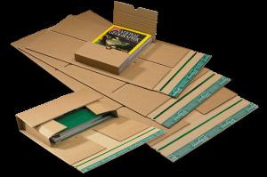 "Universal-Versandverpackung ""Premium"" - Zentrale Packgutaufnahme aus stabiler doppelter Wellpappe - Variable Füllhöhe"