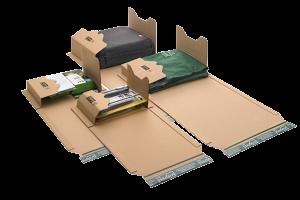 "Universal-Versandverpackungen ""ECO"" - Wickelverpackungen aus stabiler Wellpappe, braun"