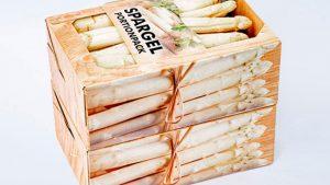 Verkaufsverpackungen - Spargel, Lebensmittel - Portionpack, gefüllt - Vollpappe