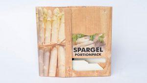Verkaufsverpackungen aus Vollpappe - Lebensmittelbereich, Spargel - Portionpack, flach