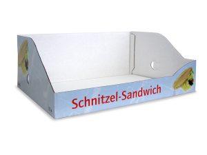 Displaykarton - Steigen und Trays - Offsetkaschierte Wellpappe - Verkaufshilfe im Kühlregal