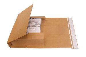 Buchverpackung - Versandverpackungen - Aufreißfaden, Selbstklebeverschluss - Sicherer Versand