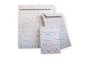 Bedruckte Versandtaschen, unterschiedliche Größen - Sicherer Versand - Aufreißfaden, Selbstklebeverschluss