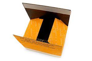 Versandverpackung - Sicherer Versand - Selbstklebeverschluss, Aufreißfaden - Innen und außen bedruckt