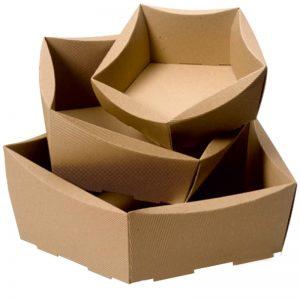 Fünfeckige Präsentkörbe, natur - Verschiedene Größen - Geschenkverpackungen