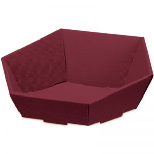 Präsentkörbe, bordeaux, sechseckig - Stabile Verpackungen für Geschenke
